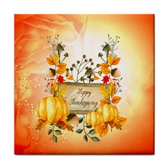 Happy Thanksgiving With Pumpkin Face Towel by FantasyWorld7