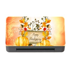 Happy Thanksgiving With Pumpkin Memory Card Reader With Cf by FantasyWorld7