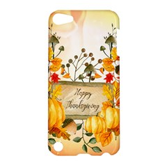 Happy Thanksgiving With Pumpkin Apple Ipod Touch 5 Hardshell Case by FantasyWorld7