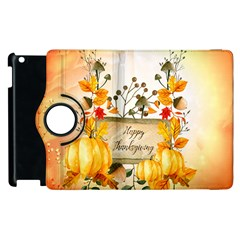 Happy Thanksgiving With Pumpkin Apple Ipad 3/4 Flip 360 Case by FantasyWorld7