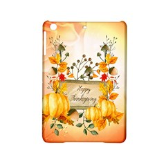 Happy Thanksgiving With Pumpkin Ipad Mini 2 Hardshell Cases by FantasyWorld7