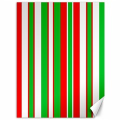Christmas Holiday Stripes Red Canvas 36  X 48   by Celenk