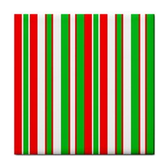 Christmas Holiday Stripes Red Face Towel