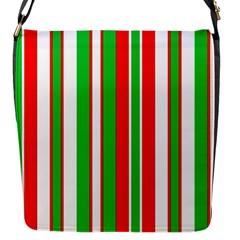 Christmas Holiday Stripes Red Flap Messenger Bag (s) by Celenk