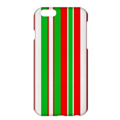 Christmas Holiday Stripes Red Apple Iphone 6 Plus/6s Plus Hardshell Case by Celenk