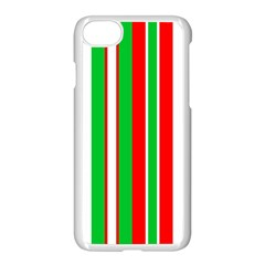 Christmas Holiday Stripes Red Apple Iphone 8 Seamless Case (white)