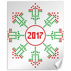 Snowflake Graphics Date Year Canvas 16  X 20   by Celenk