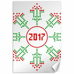 Snowflake Graphics Date Year Canvas 24  X 36