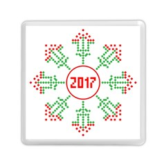 Snowflake Graphics Date Year Memory Card Reader (square)