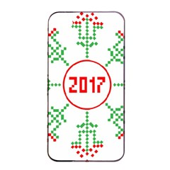 Snowflake Graphics Date Year Apple Iphone 4/4s Seamless Case (black)
