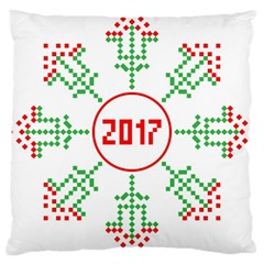 Snowflake Graphics Date Year Large Cushion Case (one Side) by Celenk
