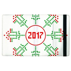 Snowflake Graphics Date Year Apple Ipad 3/4 Flip Case by Celenk