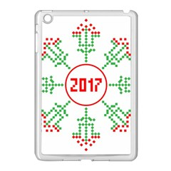 Snowflake Graphics Date Year Apple Ipad Mini Case (white) by Celenk