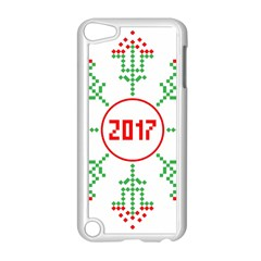 Snowflake Graphics Date Year Apple Ipod Touch 5 Case (white) by Celenk