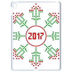 Snowflake Graphics Date Year Apple Ipad Pro 9 7   White Seamless Case