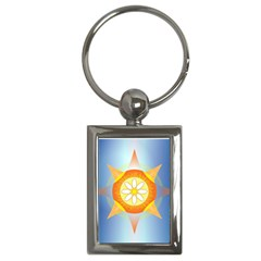 Star Pattern Background Key Chains (rectangle)  by Celenk