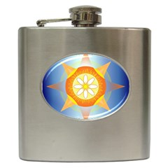 Star Pattern Background Hip Flask (6 Oz) by Celenk