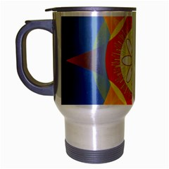 Star Pattern Background Travel Mug (silver Gray)