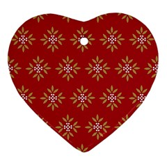 Pattern Background Holiday Ornament (heart) by Celenk