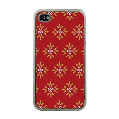 Pattern Background Holiday Apple Iphone 4 Case (clear) by Celenk
