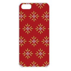 Pattern Background Holiday Apple Iphone 5 Seamless Case (white) by Celenk