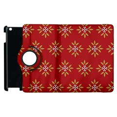 Pattern Background Holiday Apple Ipad 3/4 Flip 360 Case by Celenk