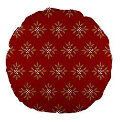 Pattern Background Holiday Large 18  Premium Flano Round Cushions by Celenk