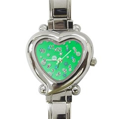 Snowflakes Winter Christmas Overlay Heart Italian Charm Watch by Celenk