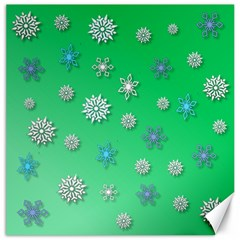Snowflakes Winter Christmas Overlay Canvas 16  X 16   by Celenk