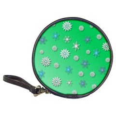 Snowflakes Winter Christmas Overlay Classic 20 Cd Wallets by Celenk