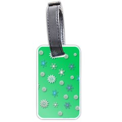 Snowflakes Winter Christmas Overlay Luggage Tags (two Sides) by Celenk