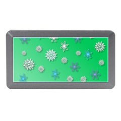 Snowflakes Winter Christmas Overlay Memory Card Reader (mini) by Celenk