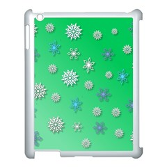 Snowflakes Winter Christmas Overlay Apple Ipad 3/4 Case (white)