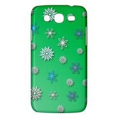 Snowflakes Winter Christmas Overlay Samsung Galaxy Mega 5 8 I9152 Hardshell Case  by Celenk