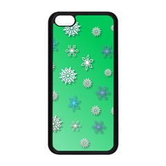 Snowflakes Winter Christmas Overlay Apple Iphone 5c Seamless Case (black) by Celenk