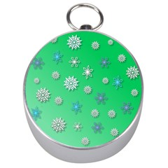 Snowflakes Winter Christmas Overlay Silver Compasses by Celenk