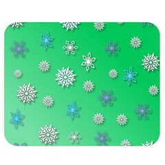 Snowflakes Winter Christmas Overlay Double Sided Flano Blanket (medium)  by Celenk