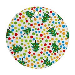 Pattern Circle Multi Color Ornament (round) by Celenk