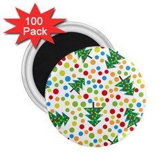Pattern Circle Multi Color 2 25  Magnets (100 Pack)