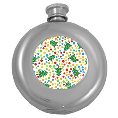 Pattern Circle Multi Color Round Hip Flask (5 Oz) by Celenk