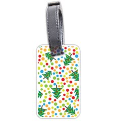 Pattern Circle Multi Color Luggage Tags (one Side)  by Celenk