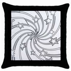Star Christmas Pattern Texture Throw Pillow Case (black) by Celenk