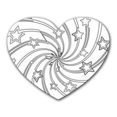 Star Christmas Pattern Texture Heart Mousepads