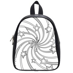 Star Christmas Pattern Texture School Bag (small) by Celenk