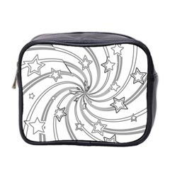 Star Christmas Pattern Texture Mini Toiletries Bag 2 Side by Celenk