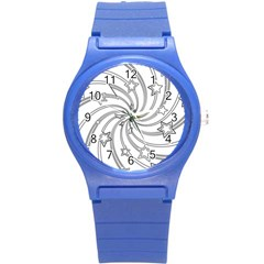 Star Christmas Pattern Texture Round Plastic Sport Watch (s)