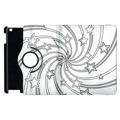 Star Christmas Pattern Texture Apple Ipad 3/4 Flip 360 Case by Celenk