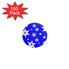 Star Background Pattern Advent 1  Mini Magnets (100 Pack)  by Celenk