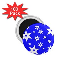 Star Background Pattern Advent 1 75  Magnets (100 Pack)  by Celenk