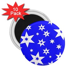Star Background Pattern Advent 2 25  Magnets (10 Pack)  by Celenk